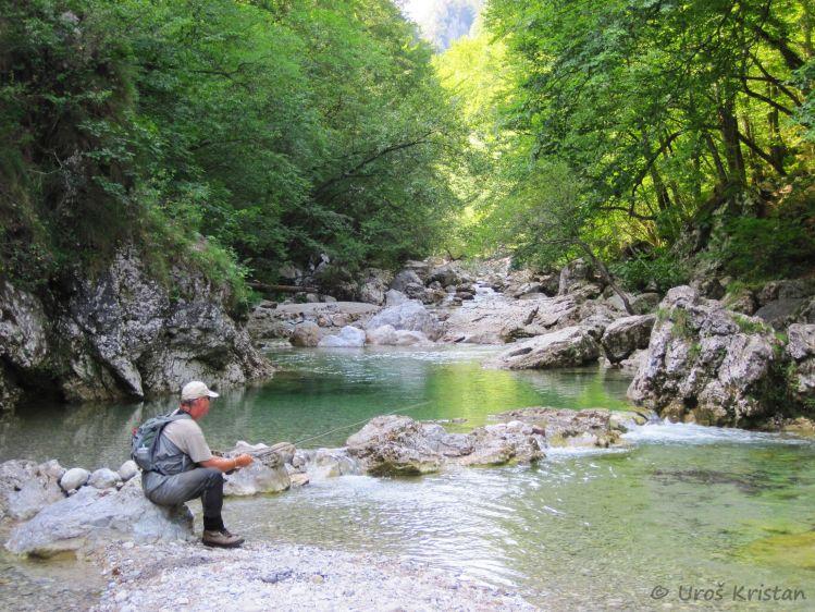 "With fly rod through the beautiful gorge ""Iški vintgar"""