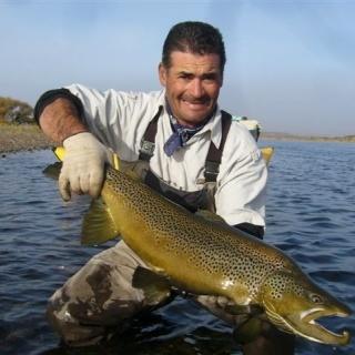 Marzo  (Salmo trutta) Limay Medio Guillermo Palacios (guia de pesca)