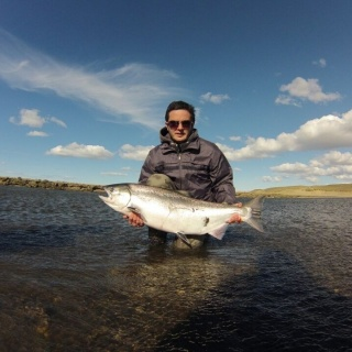 Juan y su Chinook del Río Grande...!