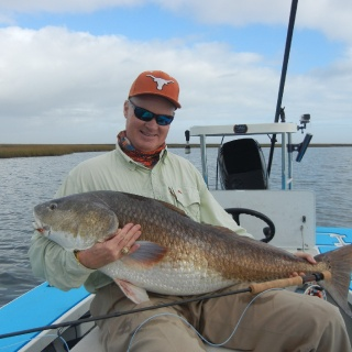 34 lb Red Fish caught on 9wt.