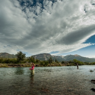 Fly fishing at the Traful River - Arroyo Verde Lodge