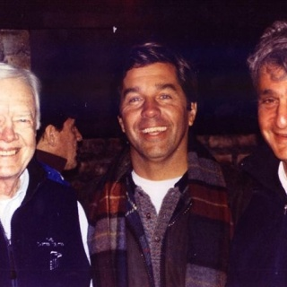 Jimmy Carter, M. Lussich y Robert Bob Rubin USA former Secretary of the Treasury