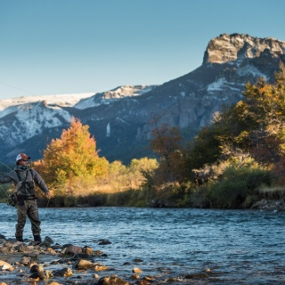 Fly fishing for Landlocked Salmon - Arroyo Verde Lodge