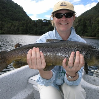 Karin Nordahl Olsen at Tromen Lake - San Huberto Lodge