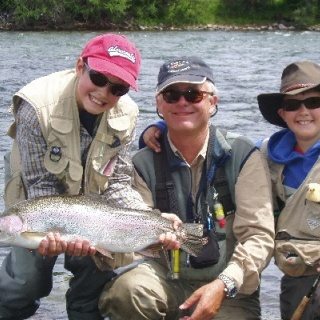 Matthew & Thomas Wilson with Gustavo Nordahl Olsen at Malleo River - San Huberto Lodge