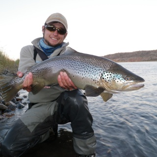 Gonzalo Flego, with a big silver brown. Limay River.