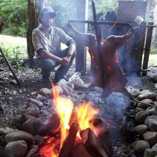 Cordero al palo. roast Lamb.!!