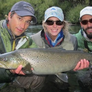 Meagan`s Brown Trout caught at the end of season 2013/2014 - Arroyo Verde Lodge