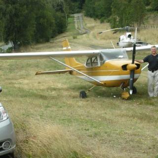 Estacionamiento aerodromo Chollinco