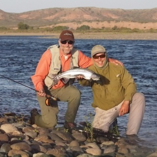 Where are the most fighter rainbows? Limay medio river.