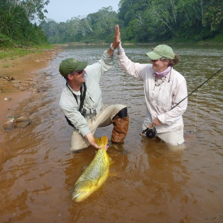 Team work in Bolivia - Golden dorado