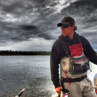 Guide Sean K. on his way back to Angler's.