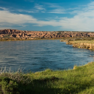 The compelling waters of the limay River !!