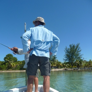 Fishing from our skiffs. - Mango Creek Lodge