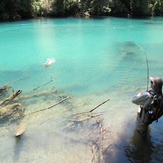 Pesca en río Traidor.