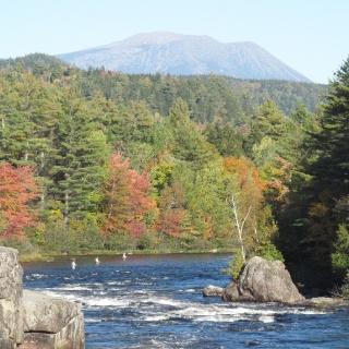 Trout and Salmon fishing in the shadows of Katahdin