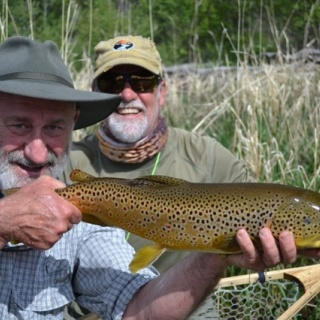 We catch some big browns on our home water on the lower Big Hole River!