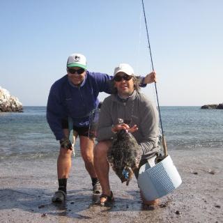 Pesca con Mosca de Lenguados, guiando a Gonzalo Herrero (Arg)
