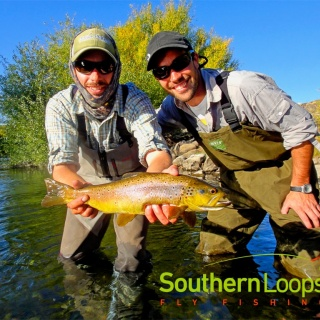 Brown Trout on a half day float trip on the Chimehuin River.