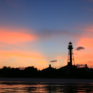 Sanibel Lighthouse after great day on the water