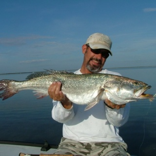 A Monster South Padre Trout with Dale Fridy