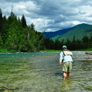 Dave brown outfitters fly fishing outfitter fly for Elk river fishing