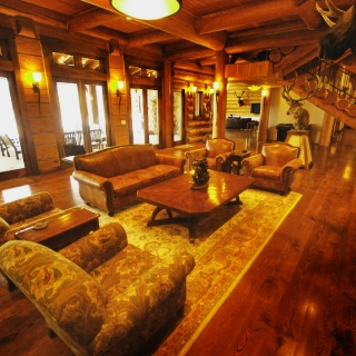 Great Room in the Lodge - Rent entire 10,000 sq foot lodge with friends or family.