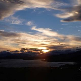 Sunset on Lago Frio.