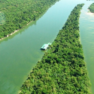 Aerial view of the Ecolodge #01