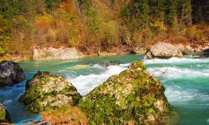 Sava River, Tržič, Slovenia