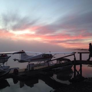Sunrises are spectacular in Alaska!