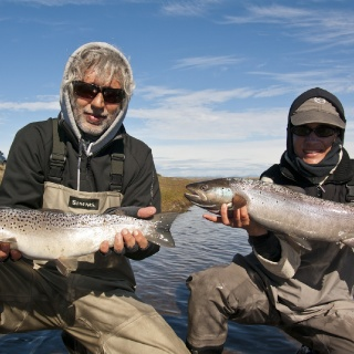 Friends fishing at the Rio Grande