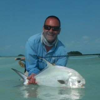Lucio is a yearly returning client - Punta Allen fishing club