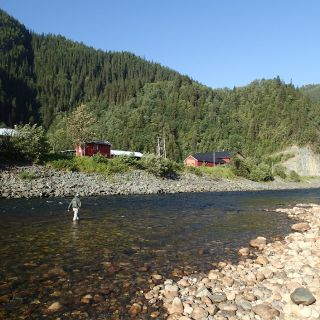 Beat 1 - Sanden pool is one of the most productive salmon pools of the Gaula River