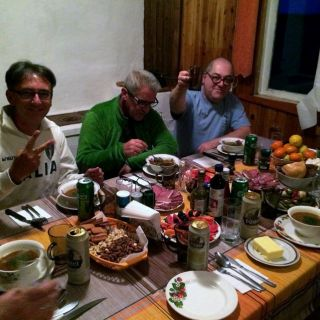 Dinner at the Chavanga lodge