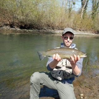 Big trout catched in Alsace