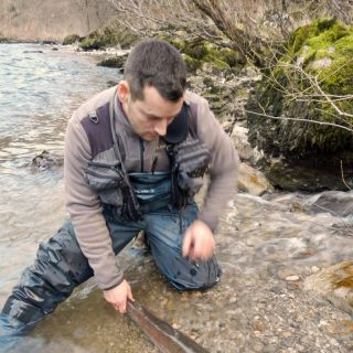 Danube salmon catch with Jerome in winter 2015