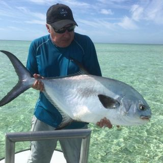 Great day of permit fishing on the flats Eastend Grand Bahama.