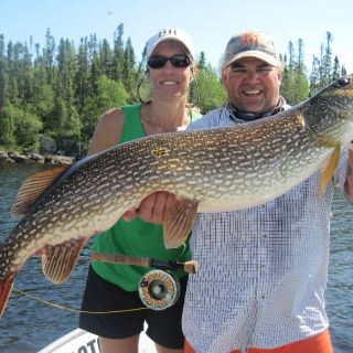 Trophy pike on the fly