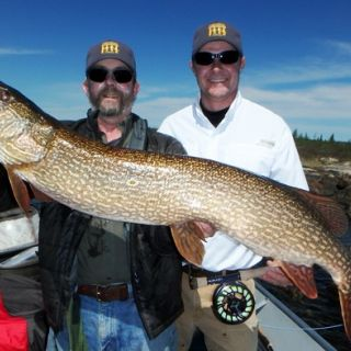 "48"" trophy northern pike on the fly rod"