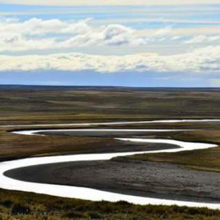 Río Menendez vista desde lo alto del cerro