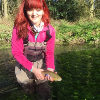 A nice fish for friend Olivia C. on her first ever fly fishing trip