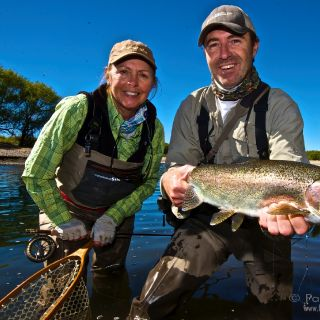 Sight fishing with Cathy Beck