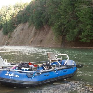 Parked to swing on the Cattaraugus in New York