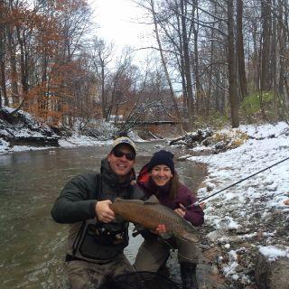 10 pound New York lake run brown trout