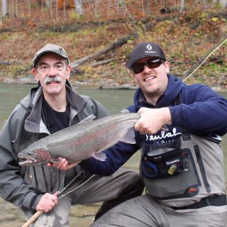 Fat New York steelhead