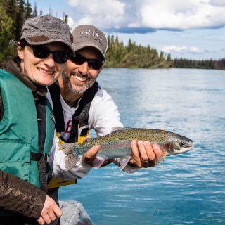 Kenai River trout make you smile.