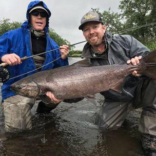 Tikchik Lodge - King Salmon Fly fishing