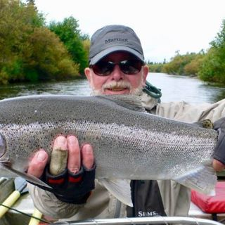 Tikchik Lodge - Fly fishing for rainbows