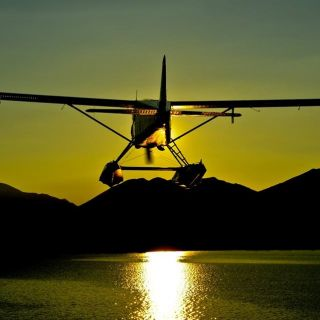 Tikchik - Sunset - Plane